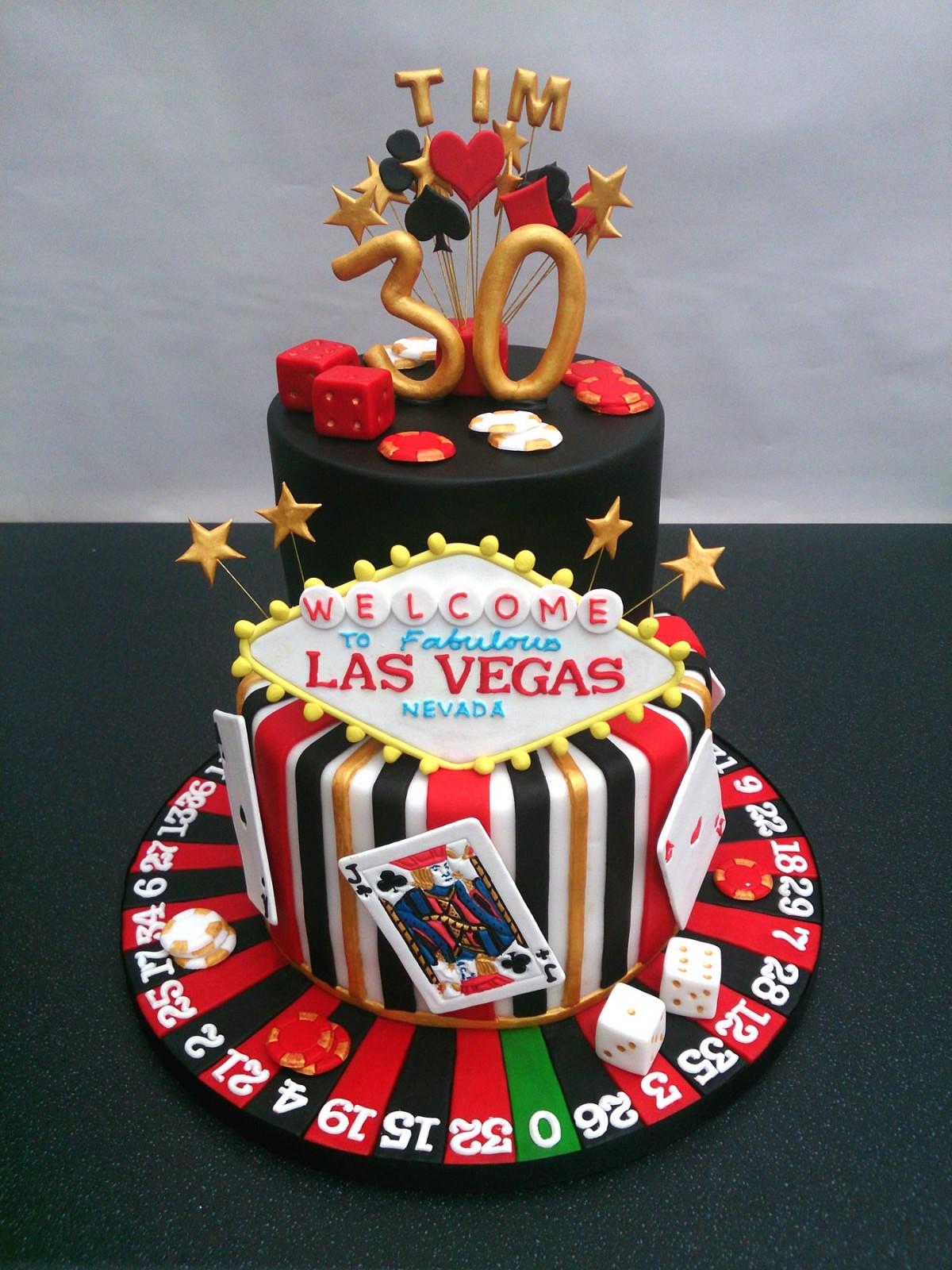 Las Vegas Gambling Themed Birthday Cake « Susie's Cakes