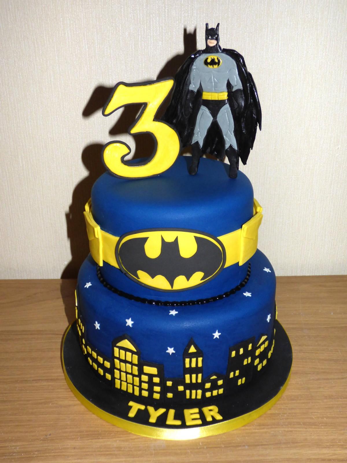 2 Tier Batman Themed Birthday Cake 171 Susie S Cakes